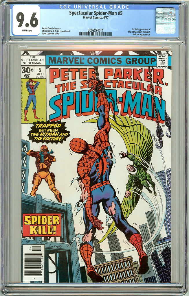 Spectacular Spider-Man #5 CGC 9.6 White Pages (1977) 2009834011