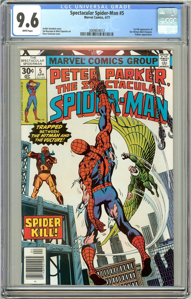 Spectacular Spider-Man #5 CGC 9.6 White Pages (1977) 2009834012