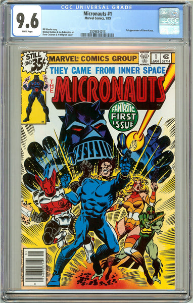 Micronauts #1 CGC 9.6 White Pages (1979) 2009834013