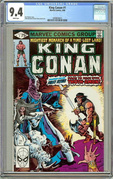 King Conan #1 CGC 9.4 White Pages (1980) 2009834015