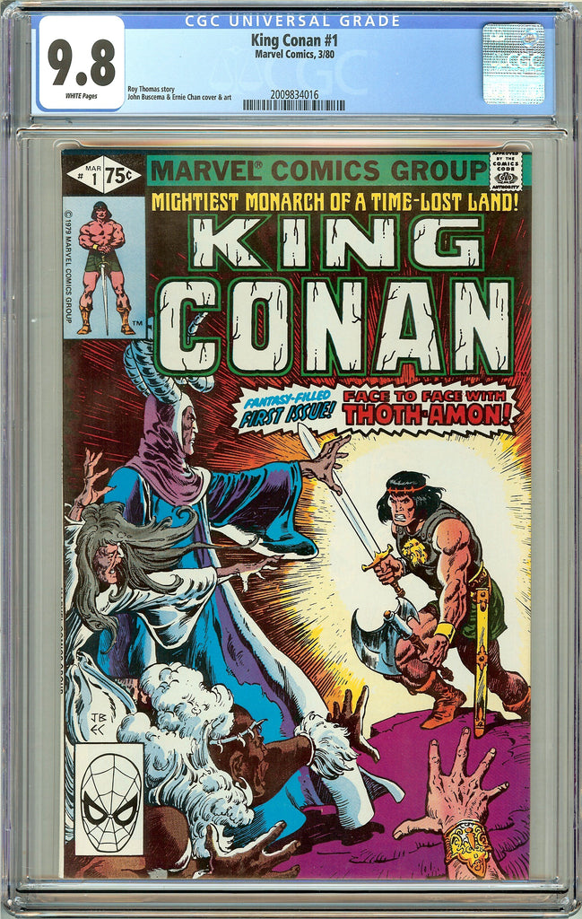 King Conan #1 CGC 9.8 White Pages (1980) 2009834016