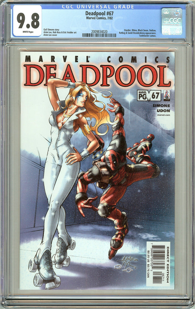 Deadpool #67 CGC 9.8 White Pages (2002) 2009834020