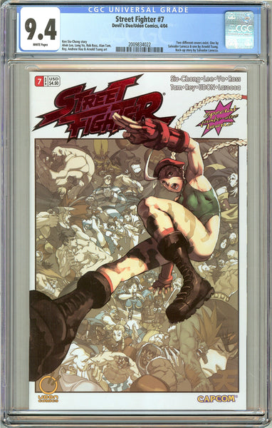 Street Fighter #7 CGC 9.4 White Pages 2009834022