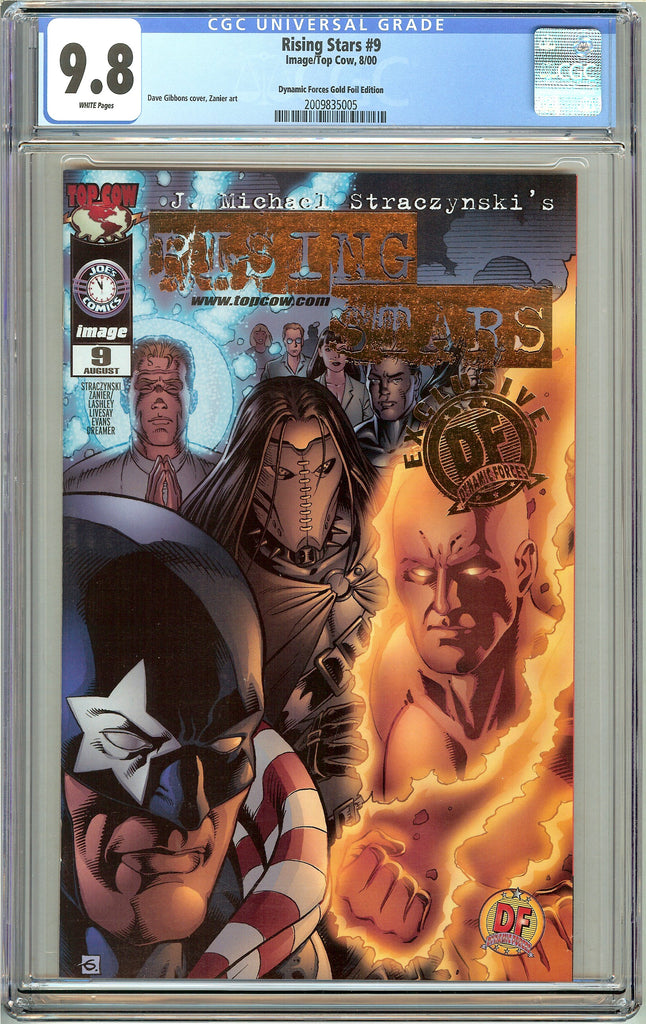 Rising Stars #9 CGC 9.8 White Pages (2000) 2009835005 DF Gold Foil Edition