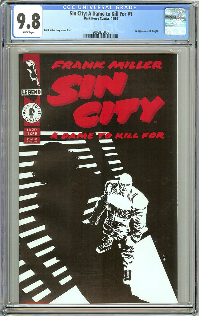Sin City A Dame to Kill For #1 CGC 9.8 White Pages 2009835006 (1993)