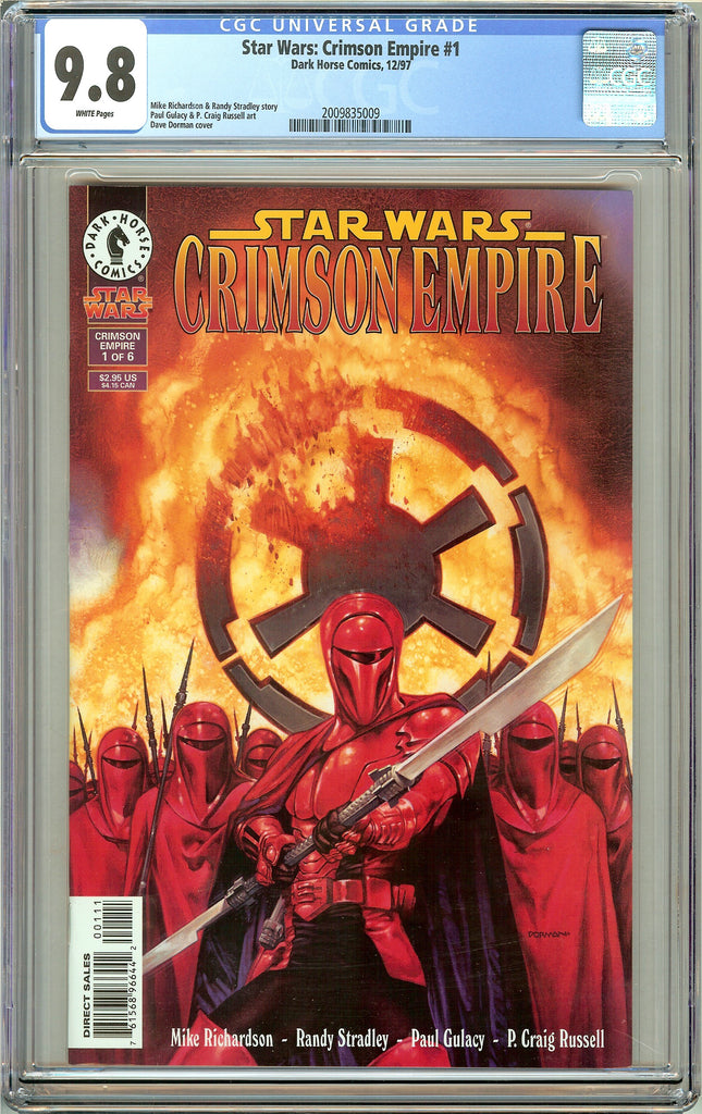 Star Wars Crimson Empire #1 CGC 9.8 White Pages (1997) 2009835009