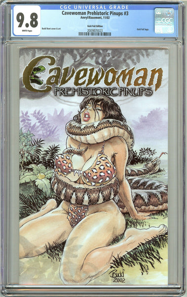 Cavewoman Prehistoric Pinups #3 CGC 9.8 White Pages 2009835023 Gold Foil Edition
