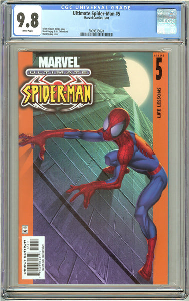 Ultimate Spider-Man #5 CGC 9.8 White Pages 2009835024 (2001)