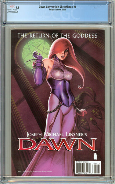Dawn Convention Sketchbook #1 CGC 9.8 White Pages 2009835025