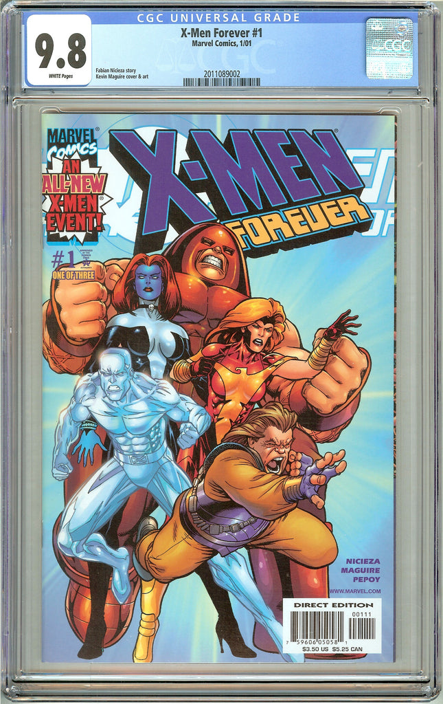 X-Men Forever #1 CGC 9.8 White Pages 2011089002