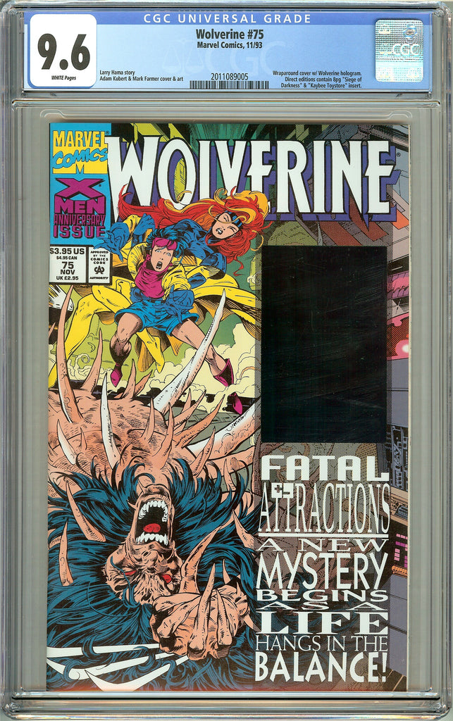 Wolverine #75 CGC 9.6 White Pages (1993) 2011089005