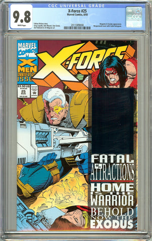 X-Force #25 CGC 9.8 White Pages (1993) 2011089008