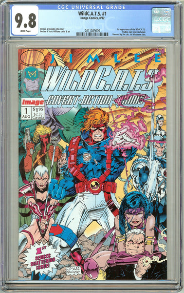Wild C.A.T.S. #1 CGC 9.8 White Pages (1992) 2011089009