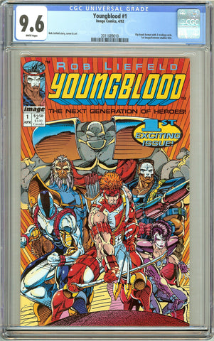Youngblood #1 CGC 9.6 White Pages (1992) 2011089010