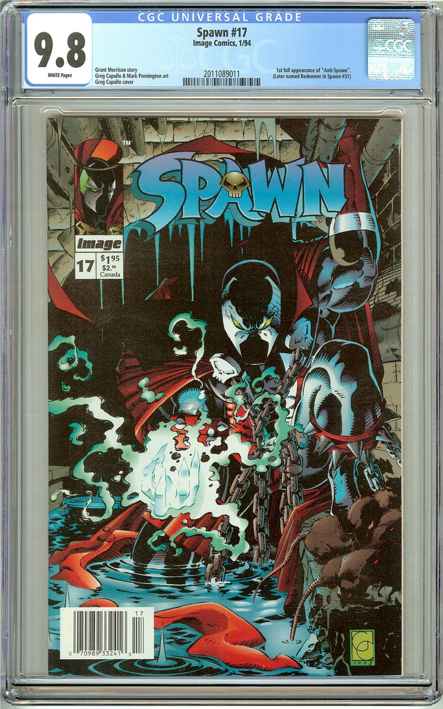 Spawn #17 CGC 9.8 White Pages (1994) 2011089011 Anti-Spawn