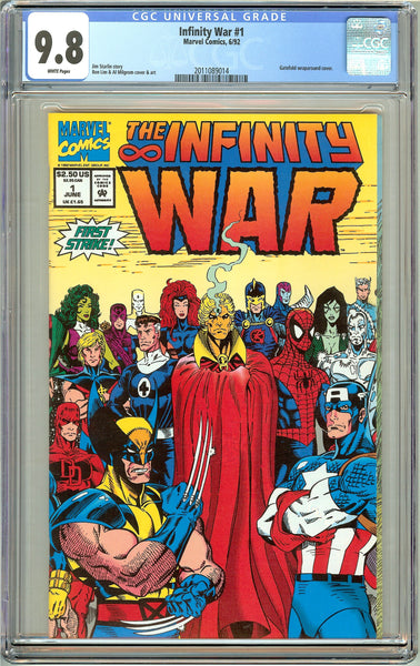 Infinity War #1 CGC 9.8 White Pages (1992) 2011089014
