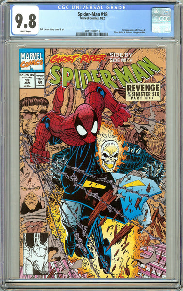 Spider-Man #18 CGC 9.8 White Pages (1992) 2011089015