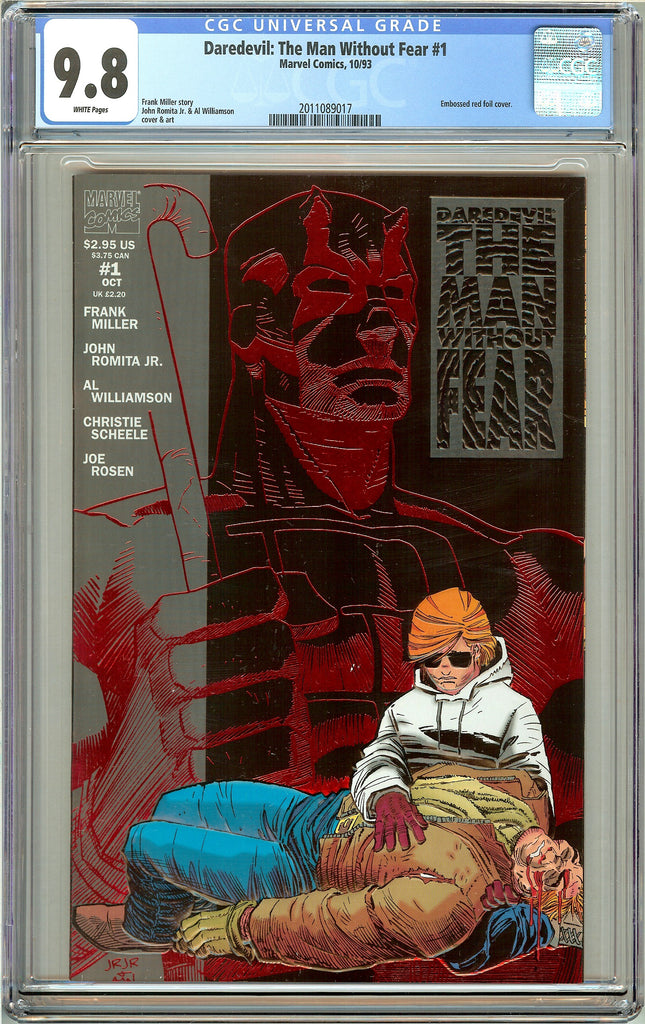Daredevil The Man Without Fear #1 CGC 9.8 White Pages (1993) 2011089017