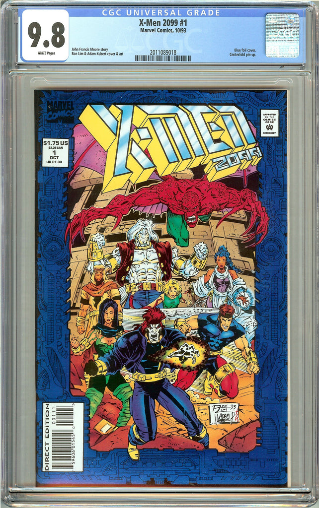 X-Men 2099 #1 CGC 9.8 White Pages (1993) 2011089018