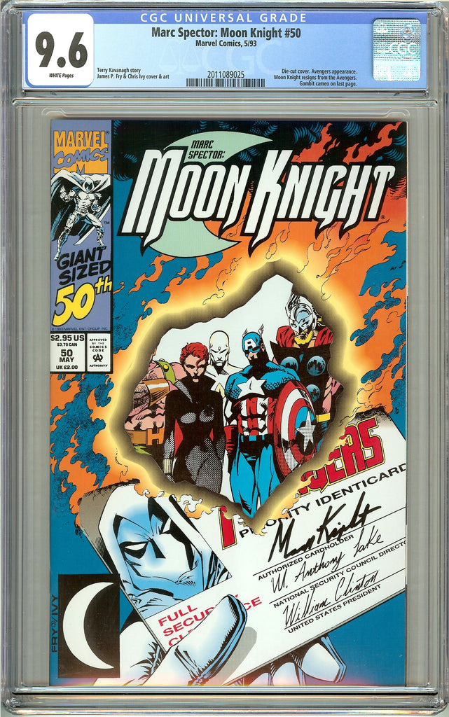 Marc Spector: Moon Knight #50 CGC 9.6 White Pages 2011089025