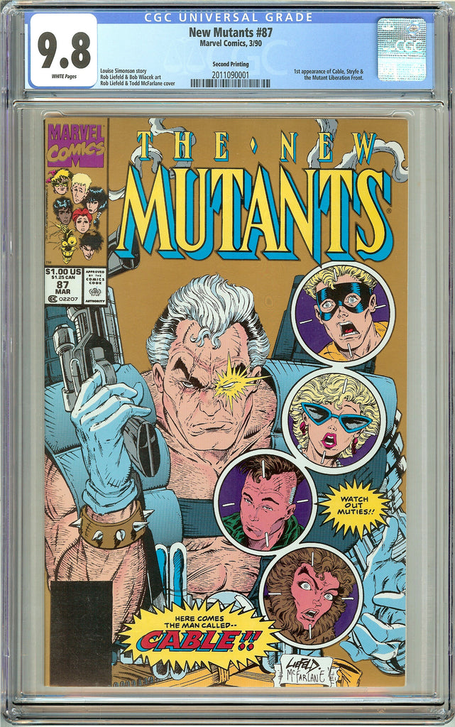 New Mutants #87 CGC 9.8 White Pages (1990) 2011090001 Second Printing