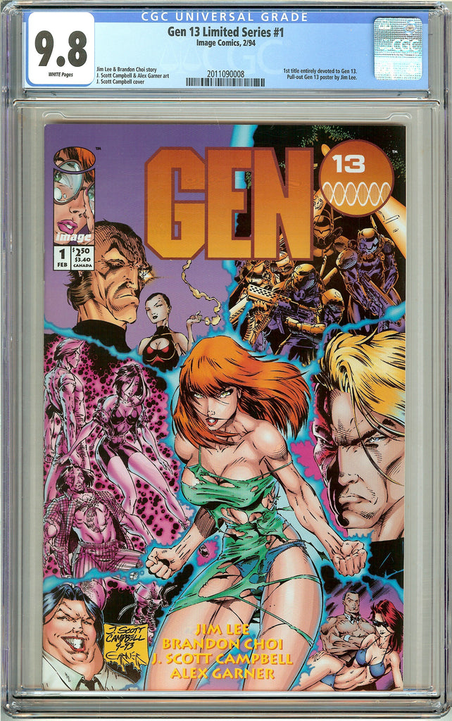 Gen 13 #1 Limited Series CGC 9.8 White Pages (1994) 2011090008