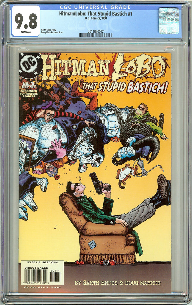 Hitman/Lobo That Stupid Bastich #1 CGC 9.8 White Pages (2000) 2011090012