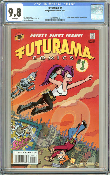 Futurama #1 CGC 9.8 White Pages (2000) 2011090013