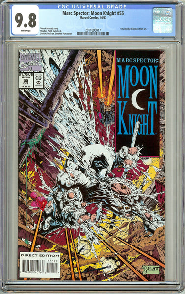 Marc Spector Moon Knight #55 CGC 9.8 White Pages 2011090017 Stephen Platt
