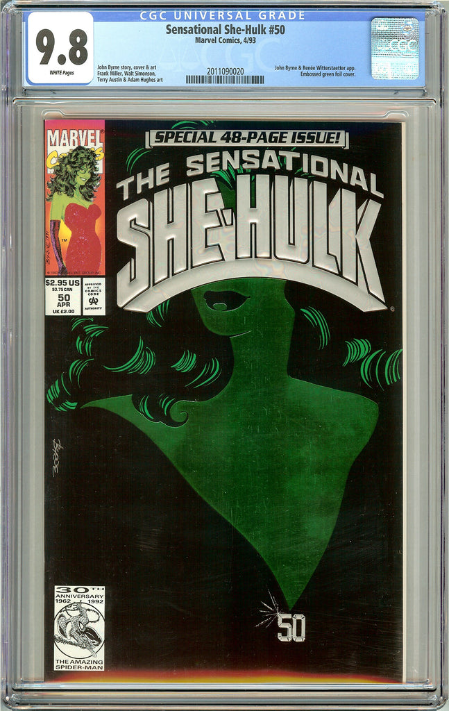 Sensational She-Hulk #50 CGC 9.8 White Pages (1993) 2011090020