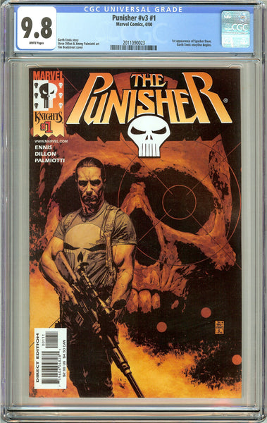 Punisher  #v3 #1 CGC 9.8 White Pages (2000) 2011090023