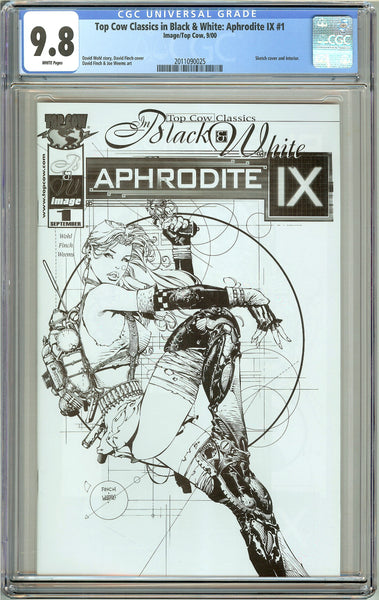Aphrodite IX #1 Top Cow Classics in B&W CGC 9.8 White Pages 2011090025
