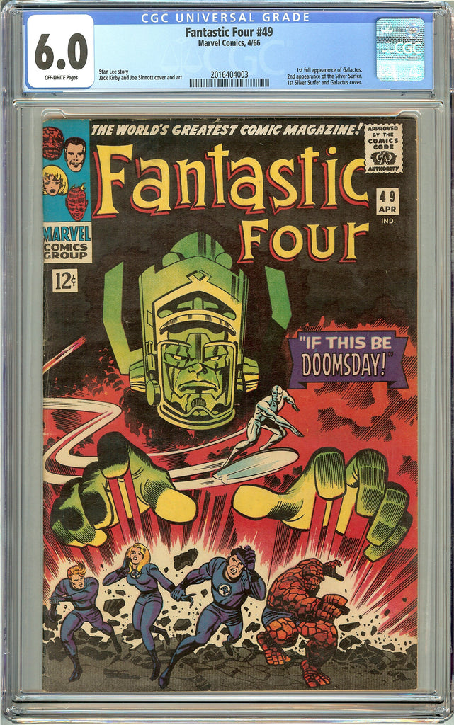 Fantastic Four #49 CGC 6.0 Off-White Pages (1966) 2016404003 1st Galactus