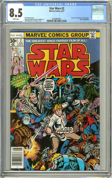 Star Wars #2 CGC 8.5 White Pages (1977) 2016407001
