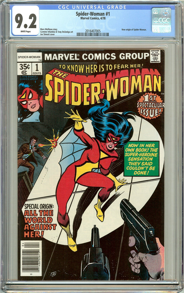 Spider-Woman #1 CGC 9.2 White Pages (1978) 2016407005
