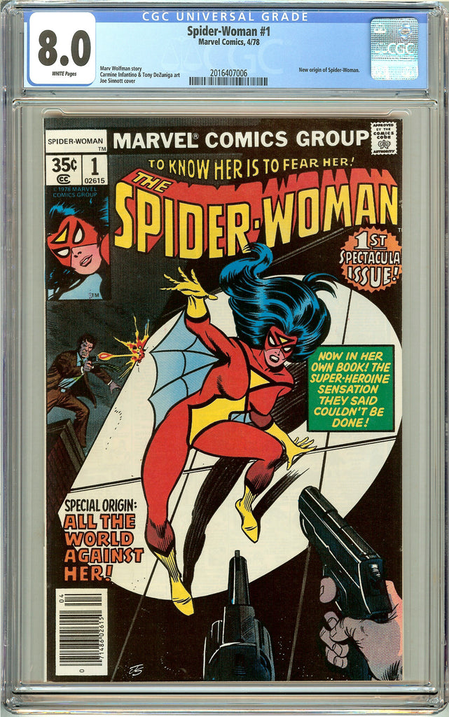 Spider-Woman #1 CGC 8.0 White Pages (1978) 2016407006