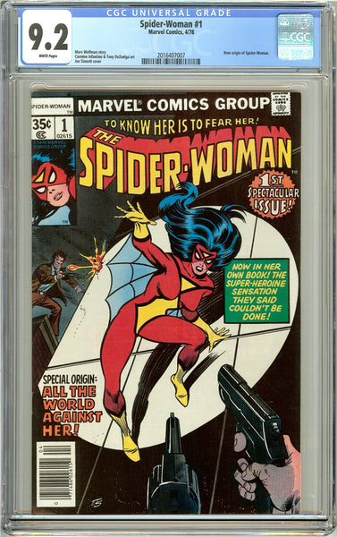 Spider-Woman #1 CGC 9.2 White Pages (1978) 2016407007
