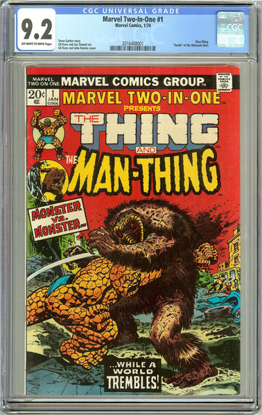 Marvel Two-In-One #1 (1974) CGC 9.2 OW to White Pages 2016408001