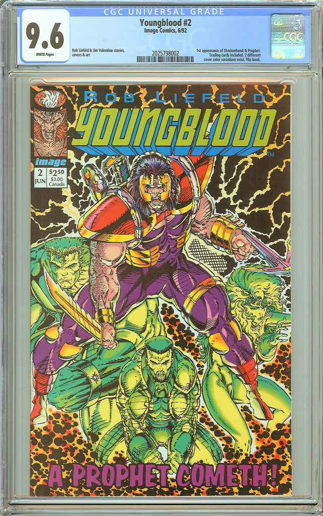 Youngblood #2 CGC 9.6 White Pages (1992) 2025798002