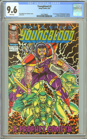 Youngblood #2 CGC 9.6 White Pages (1992) 2025798003