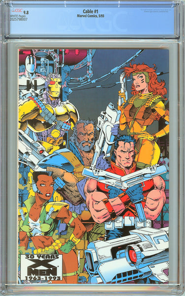 Cable #1 CGC 9.8 White Pages (1993) 2025798007