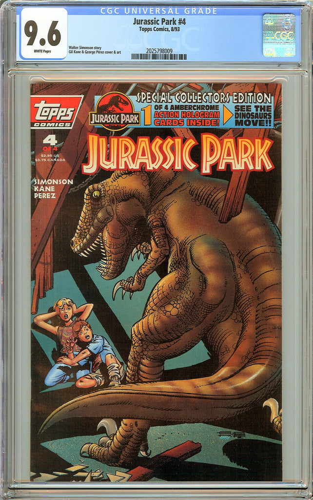 Jurassic Park #4 CGC 9.6 White Pages (1993) 2025798009