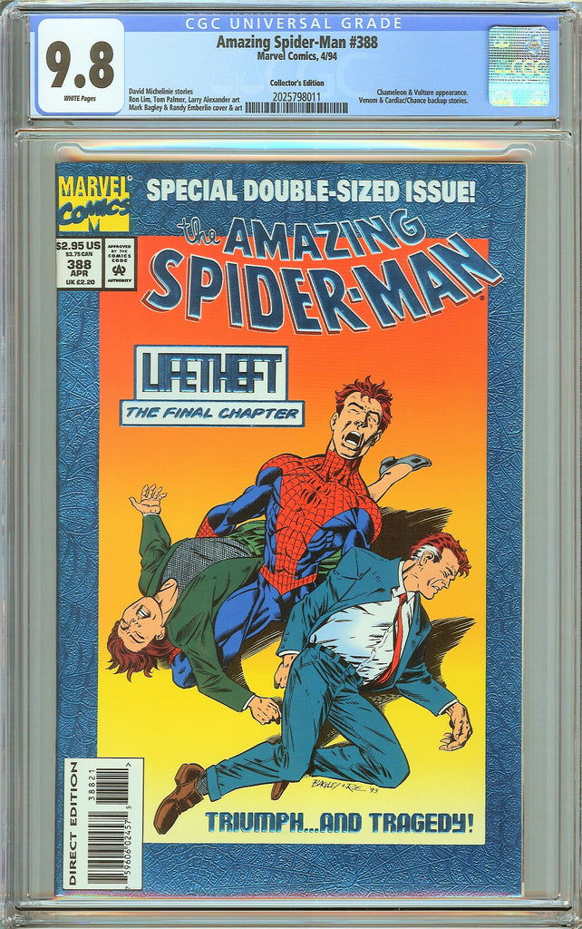 Amazing Spider-Man #388 CGC 9.8 White Pages 2025798011 Collectors Edition