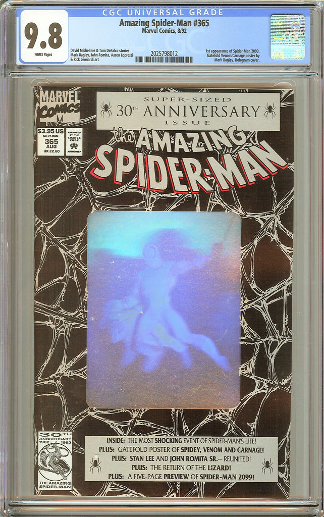 Amazing Spider-Man #365 CGC 9.8 White Pages 2025798012 (1992)