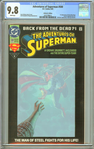 Adventures of Superman #500 CGC 9.8 White Pages 2025798013 Collectors Edition