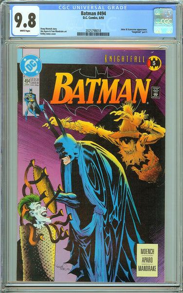 Batman # 494 CGC 9.8 White Pages (1993) 2025798018