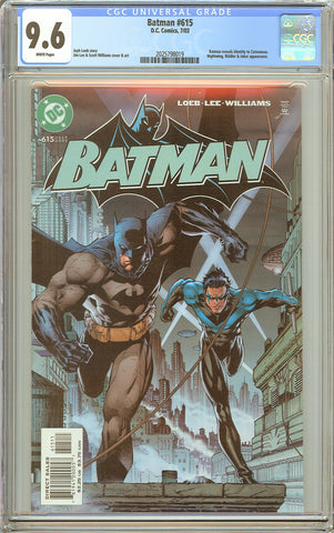 Batman # 615 CGC 9.6 White Pages (2003) 2025798019