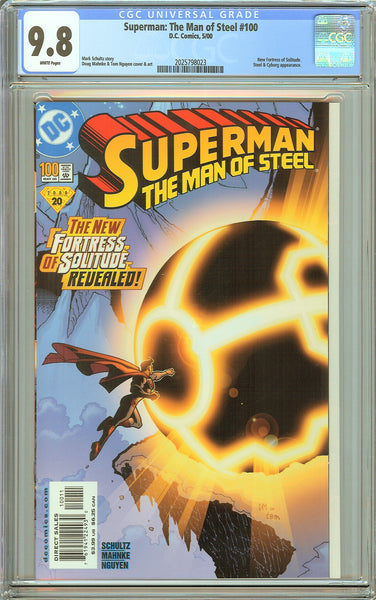 Superman The Man of Steel #100 CGC 9.8 White Pages 2025798023