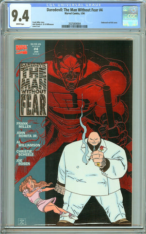 Daredevil The Man Without Fear #4 CGC 9.4 White Pages (1994) 2025804004