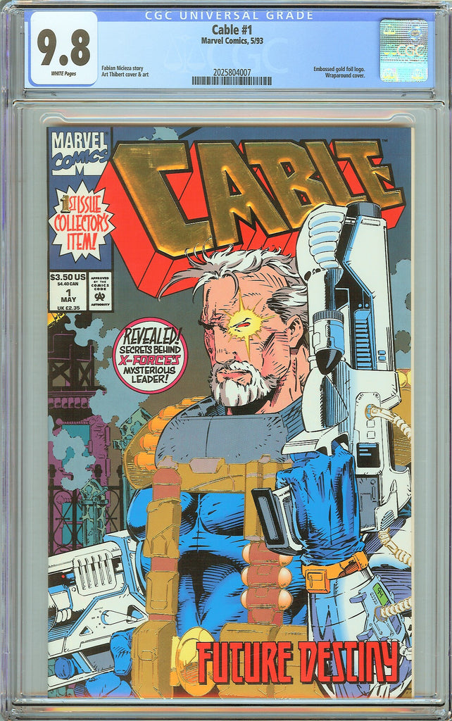 Cable #1 CGC 9.8 White Pages (1993) 2025804007